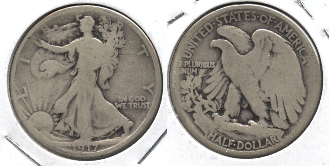 1917 Walking Liberty Half Dollar Good-4 #u
