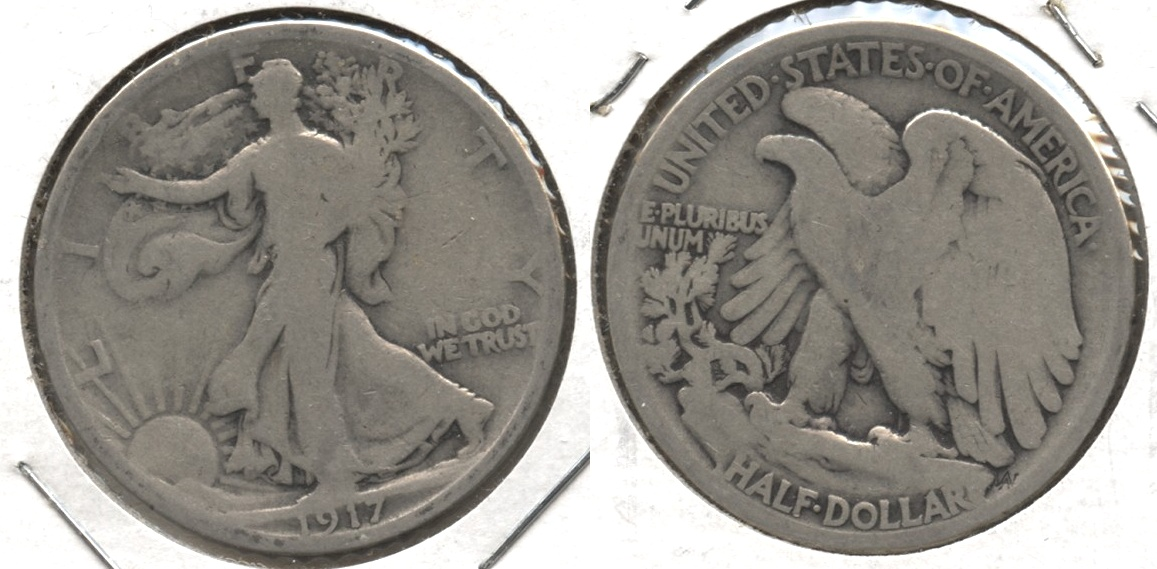 1917 Walking Liberty Half Dollar Good-4 #y