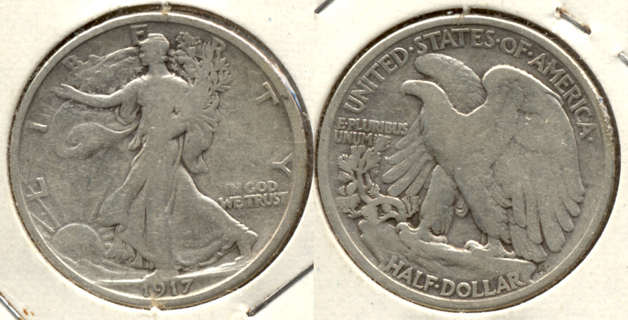 1917 Walking Liberty Half Dollar VG-8 a