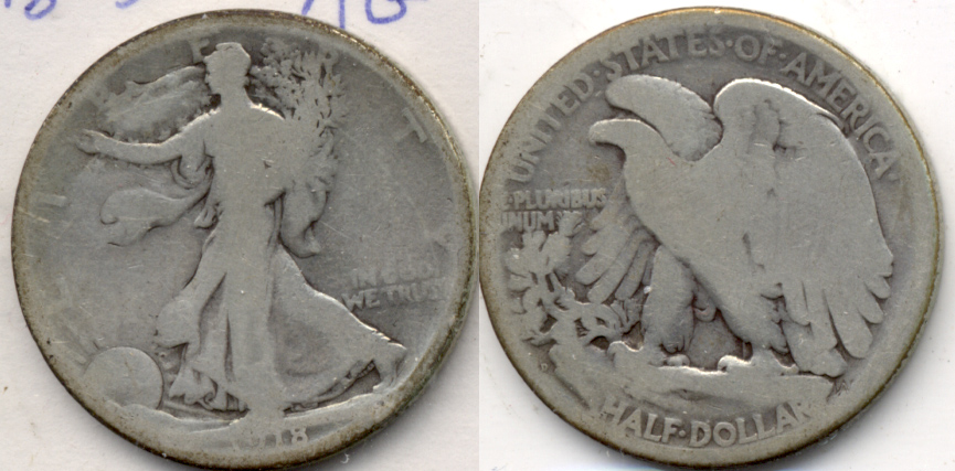 1918-D Walking Liberty Half Dollar AG-3
