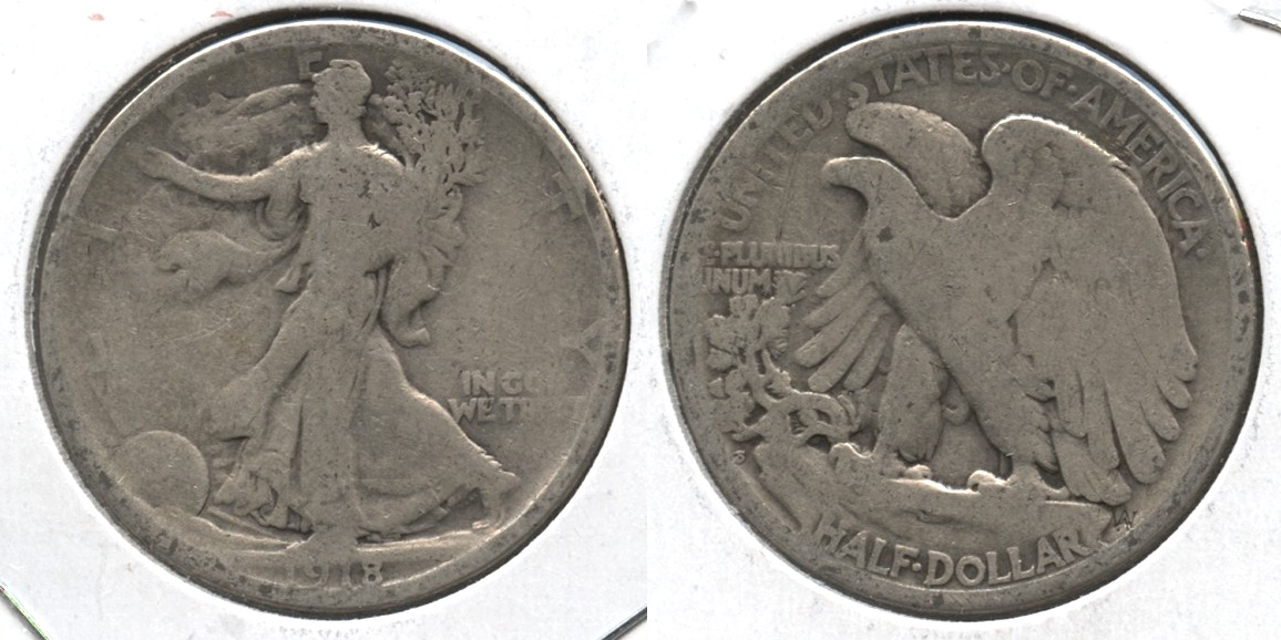 1918-S Walking Liberty Half Dollar AG-3