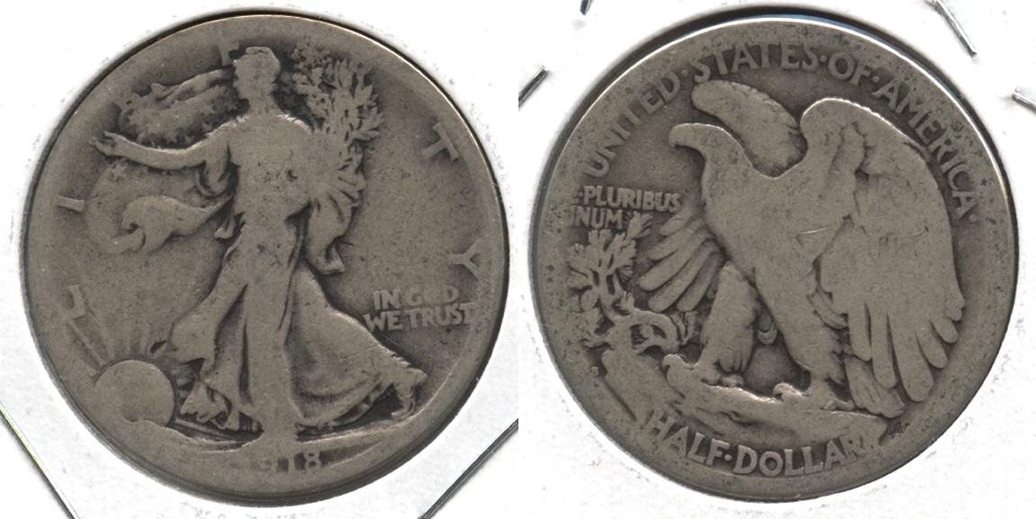 1918-S Walking Liberty Half Dollar AG-3 #a