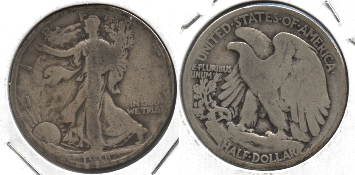 1918-S Walking Liberty Half Dollar Good-4 #al