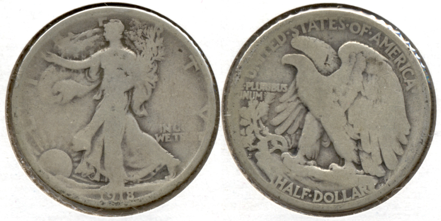 1918-S Walking Liberty Half Dollar Good-4 g