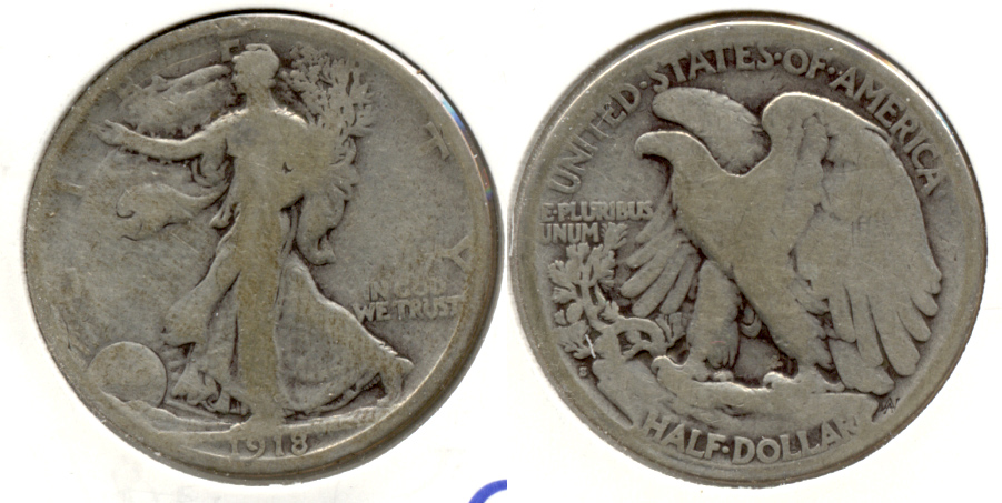 1918-S Walking Liberty Half Dollar Good-4