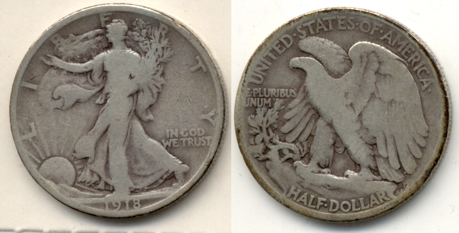 1918 Walking Liberty Half Dollar Good-4 c