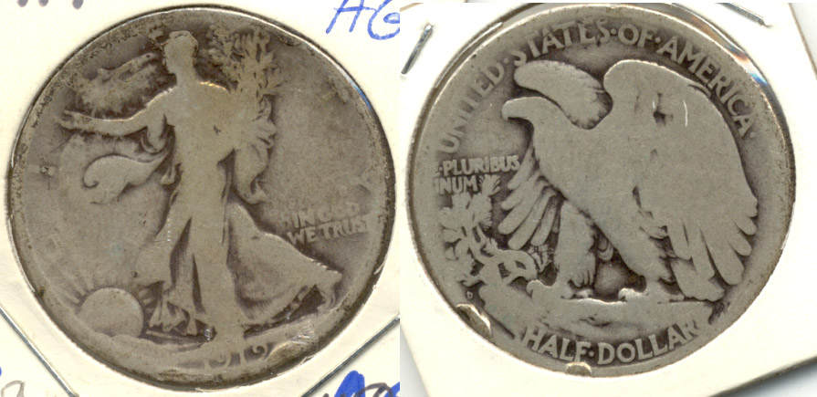 1919-D Walking Liberty Half Dollar AG-3 a