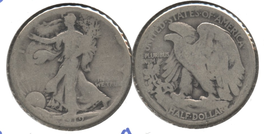 1919-D Walking Liberty Half Dollar AG-3 d
