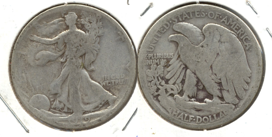 1919-D Walking Liberty Half Dollar Good-4 a