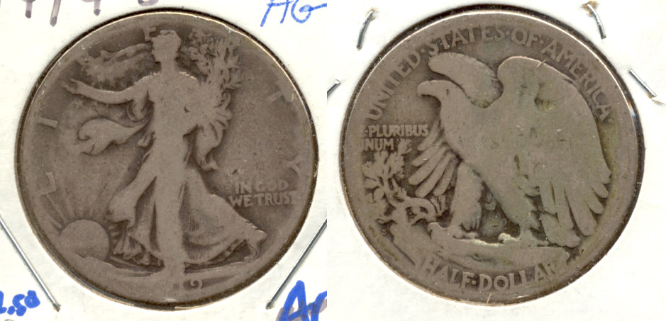 1919-S Walking Liberty Half Dollar AG-3 e