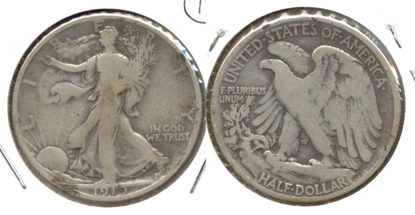 1919-S Walking Liberty Half Dollar VG-8