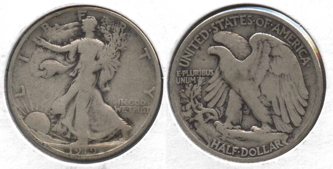 1919-S Walking Liberty Half Dollar VG-8 #c