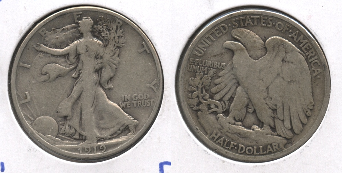 1919 Walking Liberty Half Dollar Fine-12