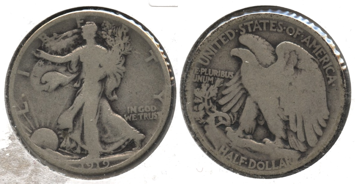 1919 Walking Liberty Half Dollar Good-4 #k