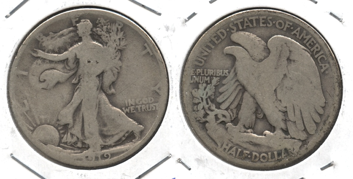 1919 Walking Liberty Half Dollar Good-4 #l