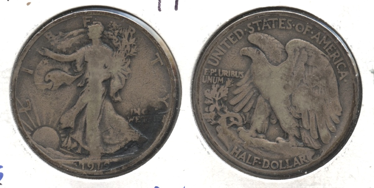 1919 Walking Liberty Half Dollar VG-8 #c