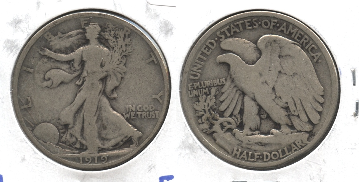 1919 Walking Liberty Half Dollar VG-8 #d
