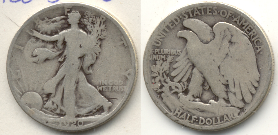 1920-S Walking Liberty Half Dollar Good-4 j