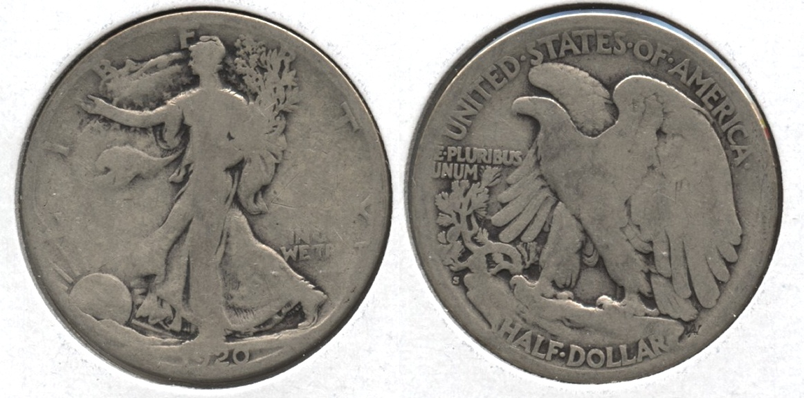 1920-S Walking Liberty Half Dollar Good-4 #v