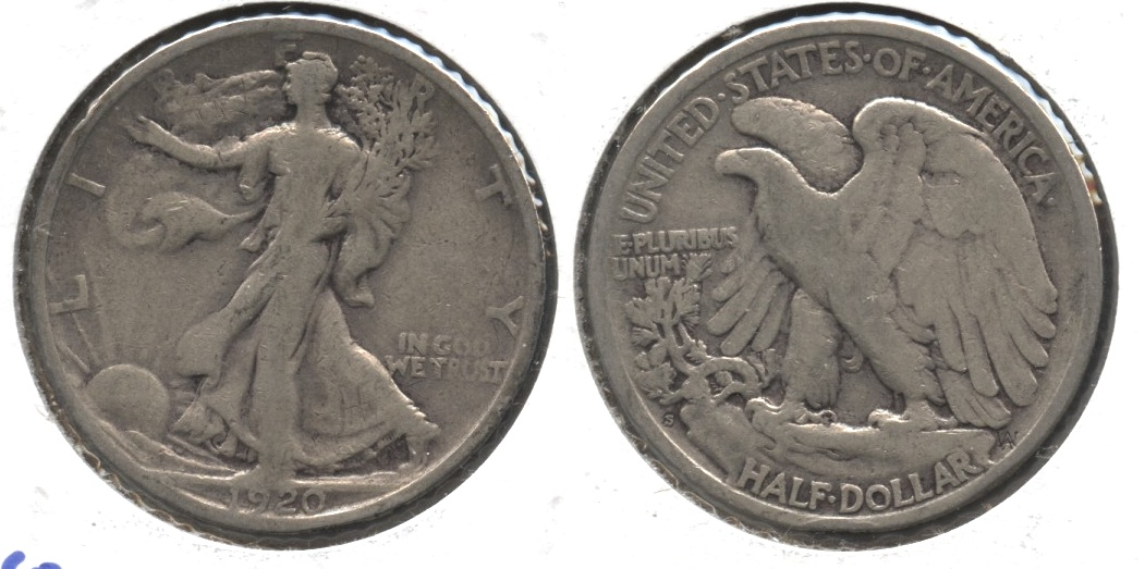 1920-S Walking Liberty Half Dollar VG-8 #r