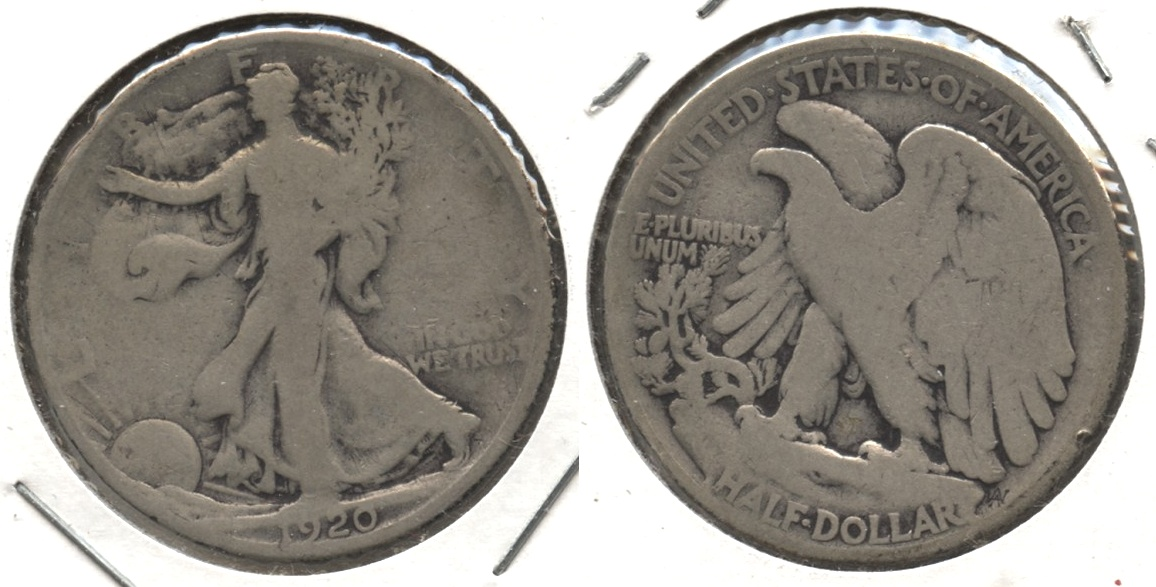 1920 Walking Liberty Half Dollar Good-4 #l