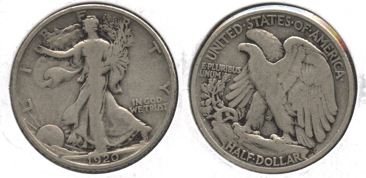 1920 Walking Liberty Half Dollar VG-8 #n