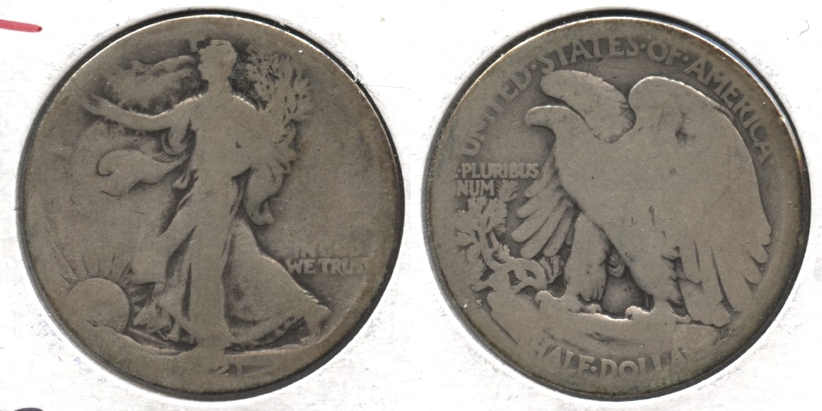 1921-S Walking Liberty Half Dollar AG-3 #e