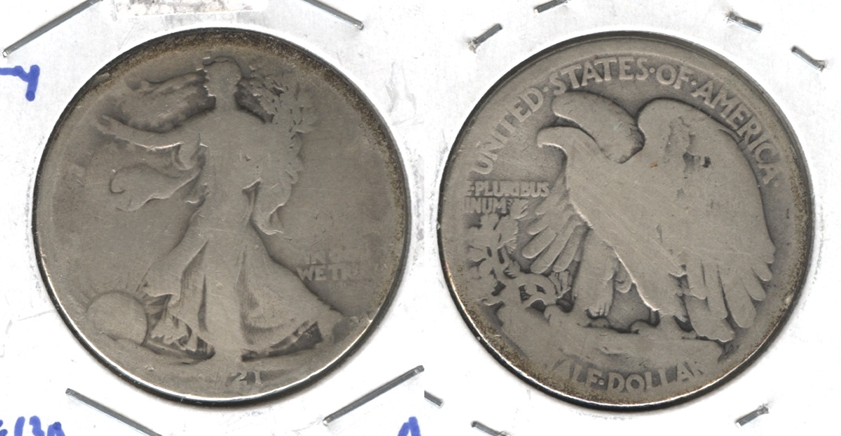 1921 Walking Liberty Half Dollar AG-3 #b