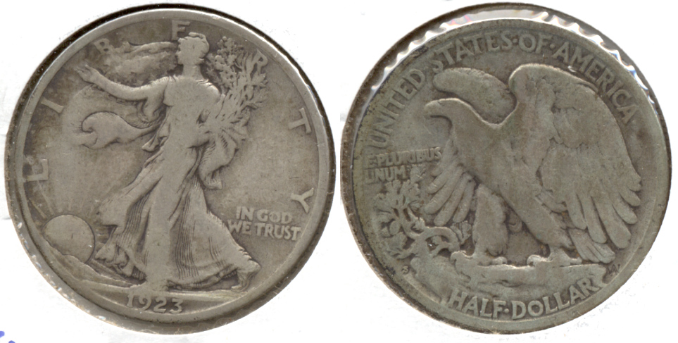 1923-S Walking Liberty Half Dollar VG-8 a