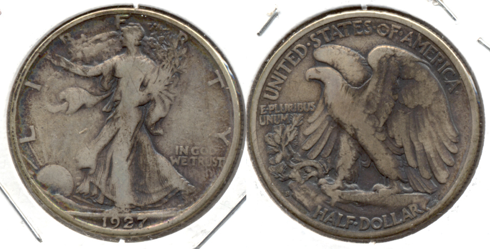 1927-S Walking Liberty Half Dollar Fine-12 Ugly