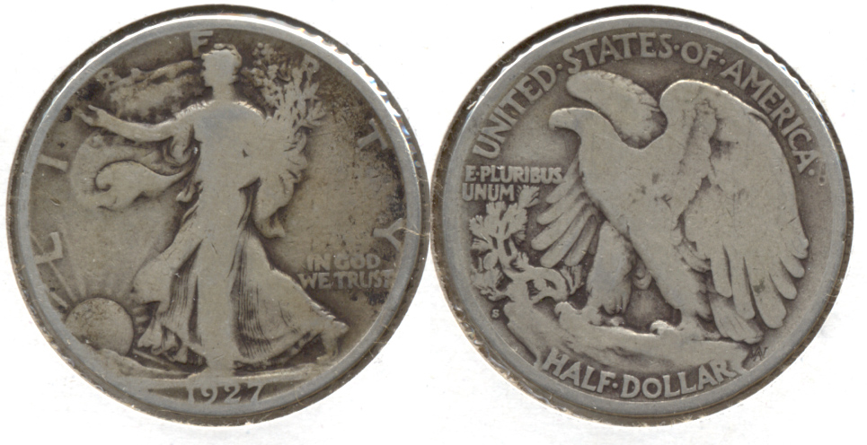 1927-S Walking Liberty Half Dollar Good-4 b