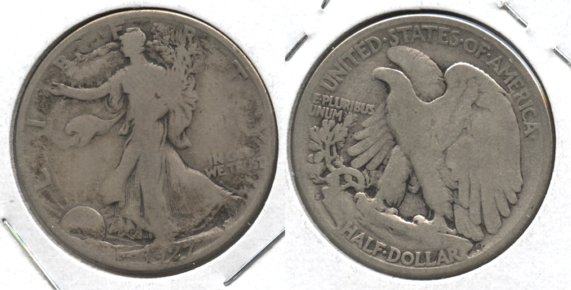 1927-S Walking Liberty Half Dollar Good-4 #v