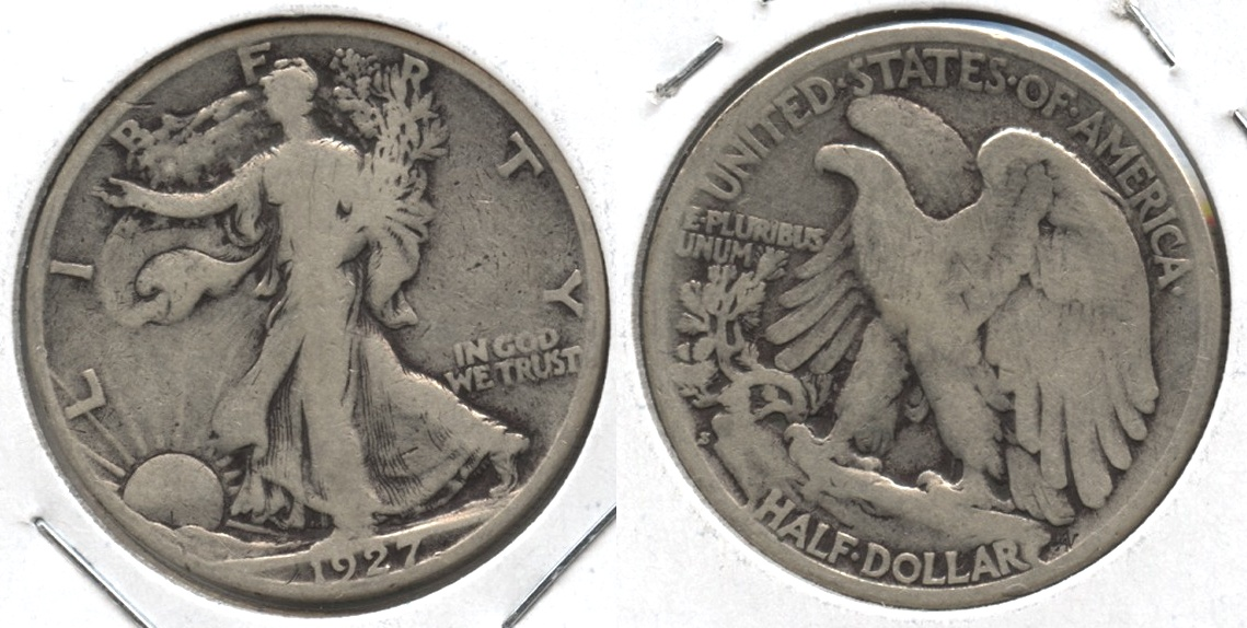 1927-S Walking Liberty Half Dollar Good-4 #y