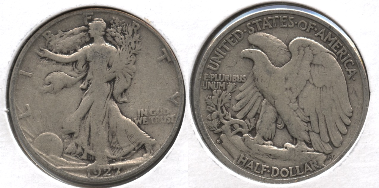 1927-S Walking Liberty Half Dollar VG-8 #aa
