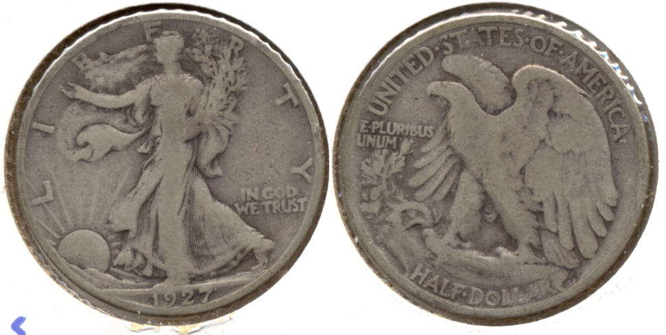 1927-S Walking Liberty Half Dollar VG-8 m