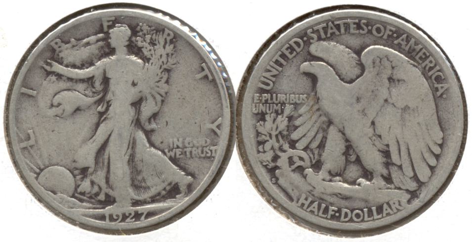 1927-S Walking Liberty Half Dollar VG-8 w