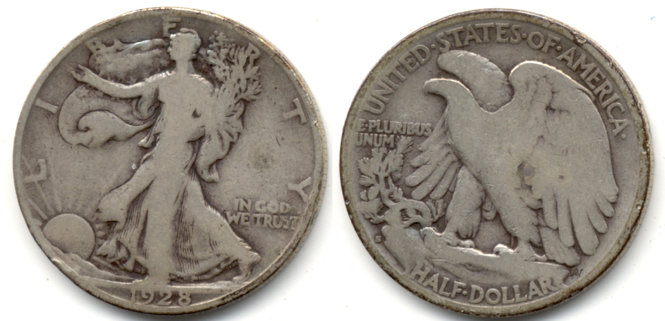 1928-S Walking Liberty Half Dollar Good-4 c