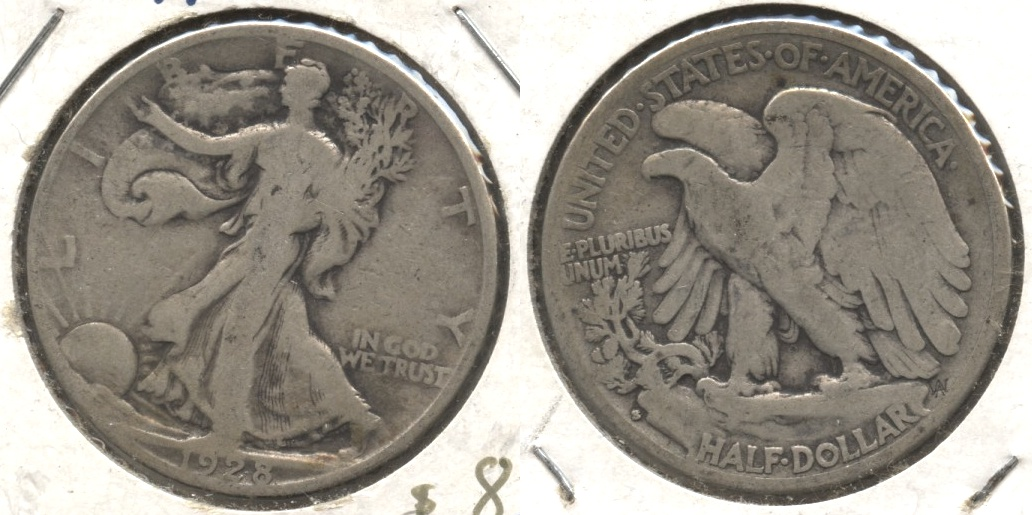 1928-S Walking Liberty Half Dollar Good-4 #f