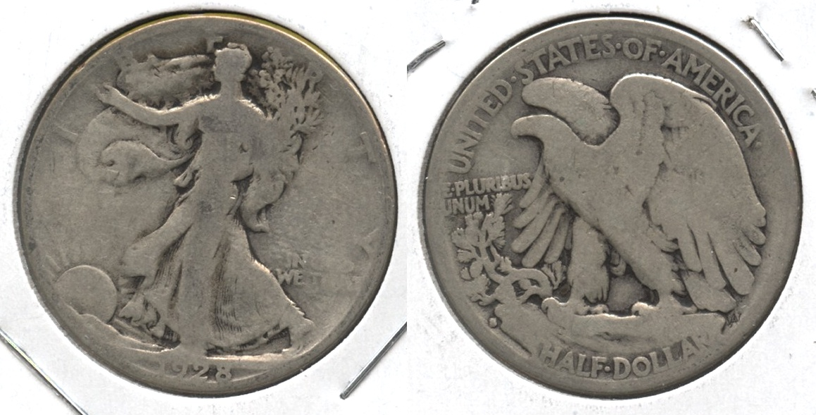1928-S Walking Liberty Half Dollar Good-4 #i