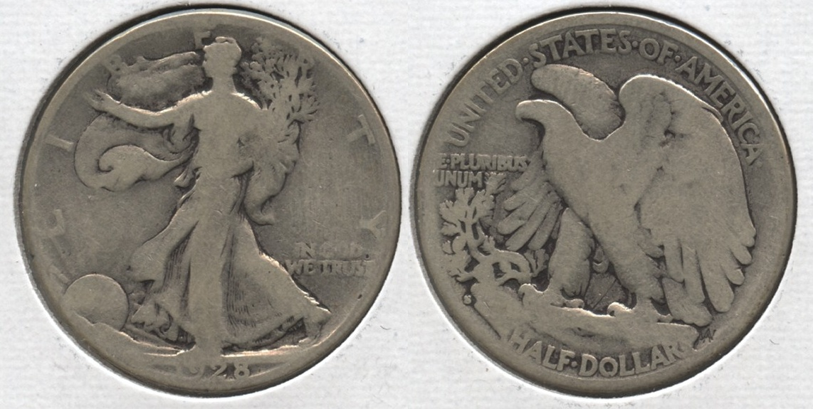 1928-S Walking Liberty Half Dollar Good-4 #m