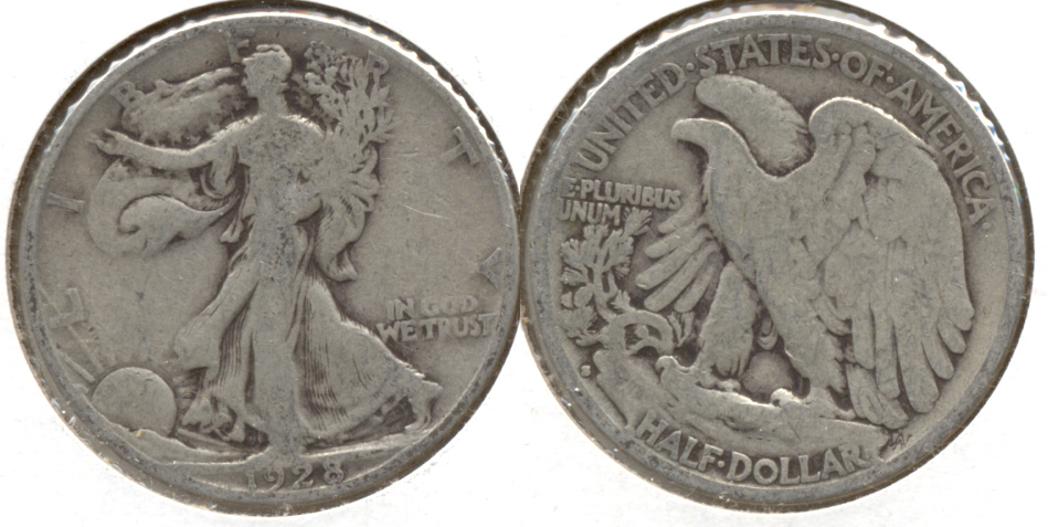 1928-S Walking Liberty Half Dollar VG-8 l
