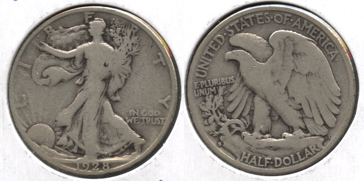 1928-S Walking Liberty Half Dollar VG-8 #p