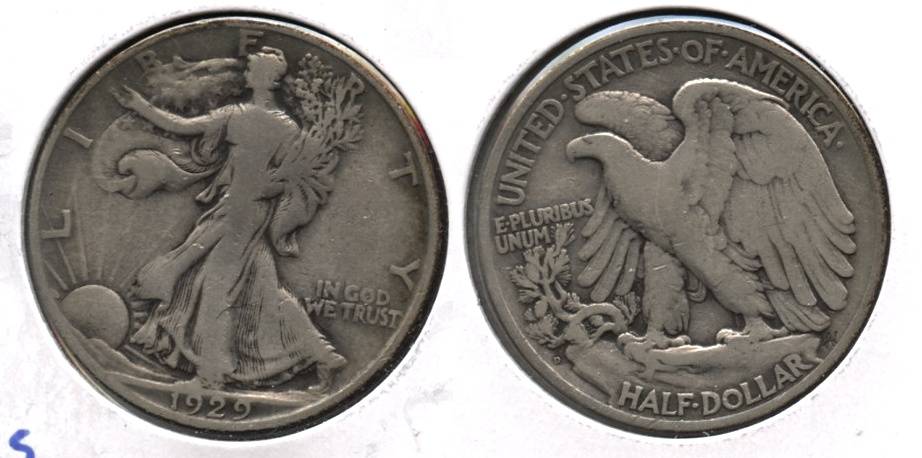 1929-D Walking Liberty Half Dollar VG-8
