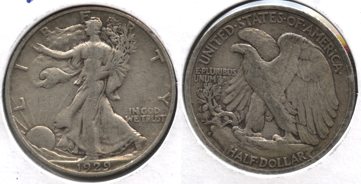 1929-S Walking Liberty Half Dollar VF-20