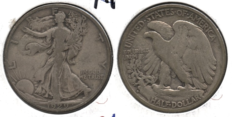 1929-S Walking Liberty Half Dollar VG-8 l