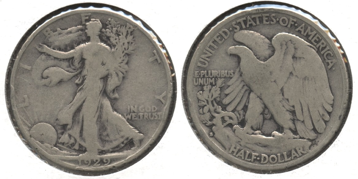 1929-S Walking Liberty Half Dollar VG-8 #q