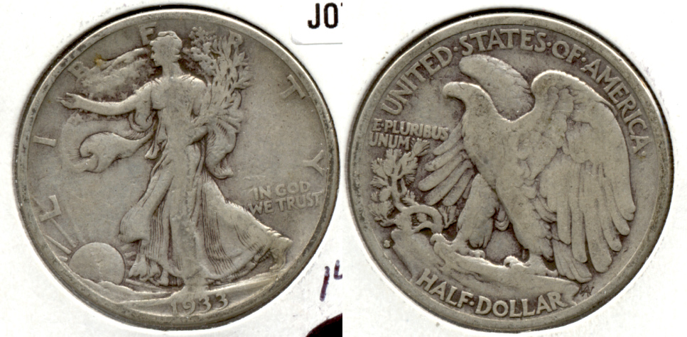1933-S Walking Liberty Half Dollar Fine-12 k