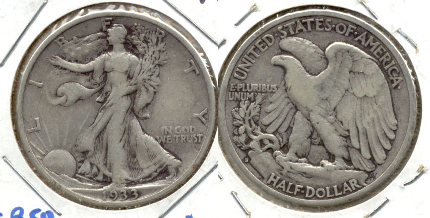1933-S Walking Liberty Half Dollar VF-20