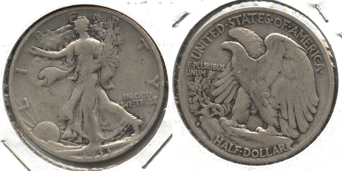 1933-S Walking Liberty Half Dollar VG-8 #p