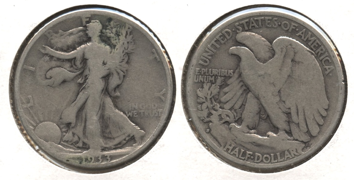 1933-S Walking Liberty Half Dollar VG-8 #w